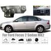 Рамка под камеру заднего вида для Ford Focus II Sedan (04-11) / C-Max (03-10) Разм.85мм*31мм №HS-8169