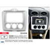 Переходная рамка 2DIN 9 дюймов (CARAV 22-630) Ford Focus (05-11) (Серебро,Ручн.кондиц.) Разм.230/220 x130